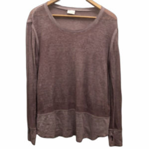 Abound Scoop Neck  Sweater Purple Dusty Rose Small